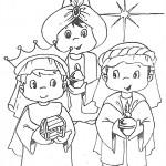 Imagenes de los Reyes para imprimir y colorear