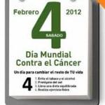 """Tarjetas con frase """"unidos contra el cancer"""""""