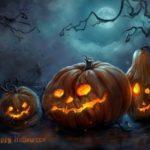 Fiesta de Halloween o Noche de Brujas: Disfraces, Calabazas y Uñas decoradas