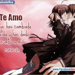 Frases románticas de amor Animé en imágenes para descargar gratis y compartir