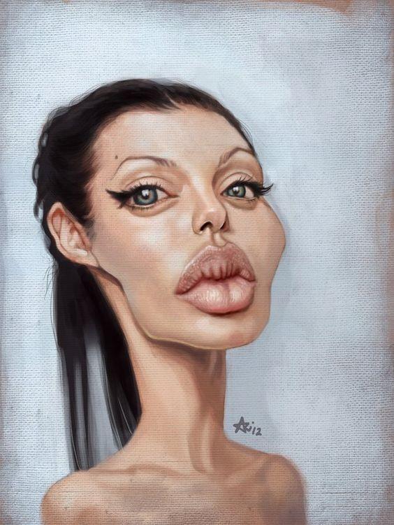 caricaturaAngelina Jolie