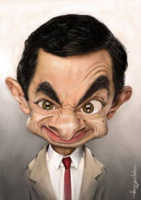 caricaturaactorMr. Bean