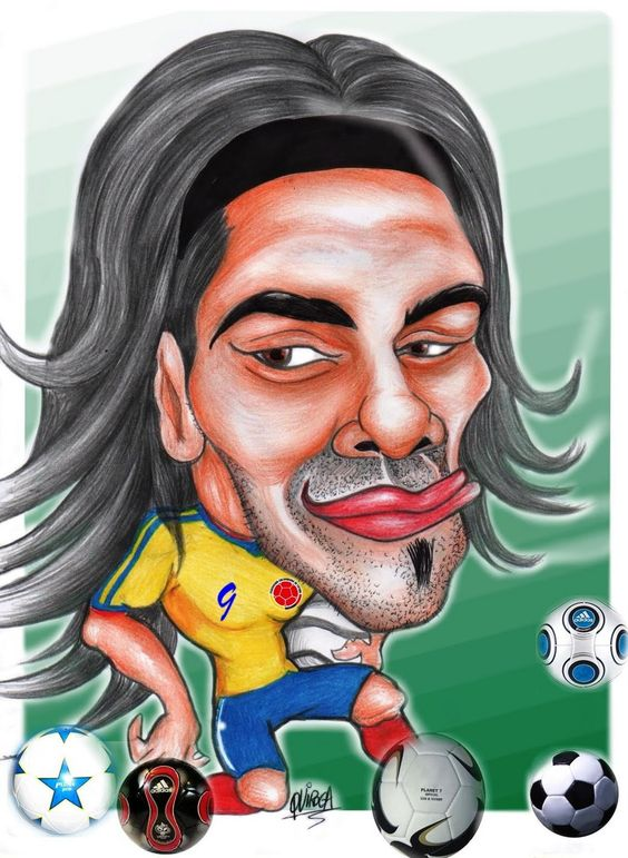 caricaturadeportistaRadamel Falcao Seleccion Nacional de Colombia