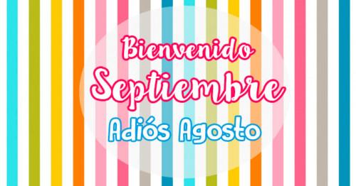 Imagen con rayas de colores despidiendo al mes de Agosto http://fechaespecial.com/