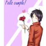 Imágenes chidas Animé con frases bonitas de Felíz Cumpleaños y Happy Birthday