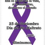 Carteles, Lazos e Imágenes con frases del Día Internacional de la Eliminación de la Violencia contra la Mujer para compartir este 25 de noviembre