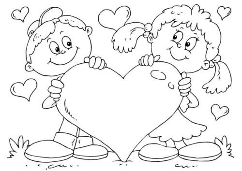 Imágenes bonitas con frases de amor y dibujos para pintar y dedicar ...