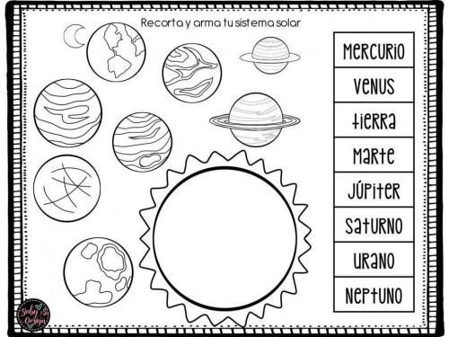 Dibujos Para Colorear Del Sistema Solar Para Ninos: Imágenes Del Sistema Solar Para Niños » Planetas, Maquetas